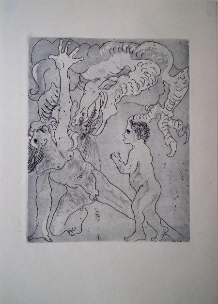 Filla Emil: Otec a syn napadeni drakem války