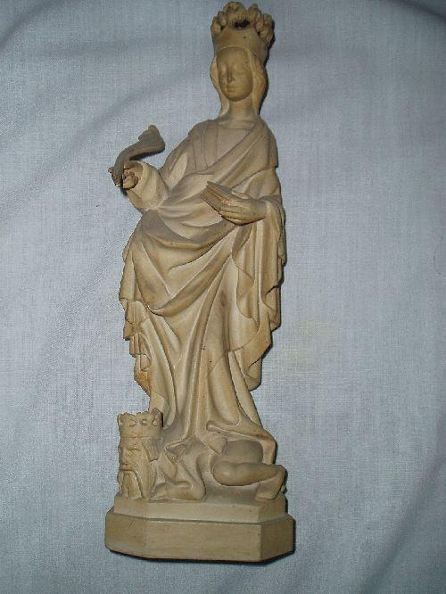 Gotická soška – profesionální stará replika