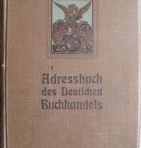 Adresář německých knihkupců na rok 1913
