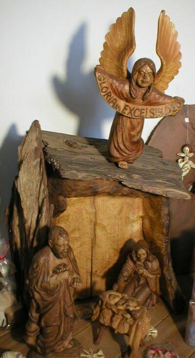Ježek Jan: Betlém – dřevořezba