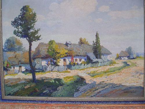 Dobeš Ludva: Vesnické stavení v létě