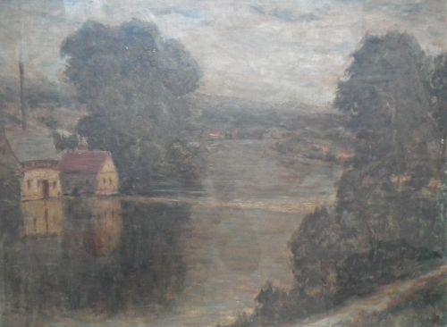 Kačírek Vlastimil: Řeka se starým mlýnem