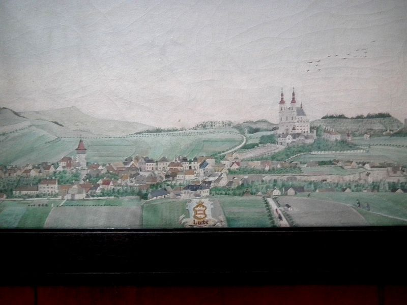 Město Luže – okres Chrudim. Cca 1890