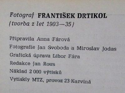 Anna Fárová: Fotograf František Drtikol - detail