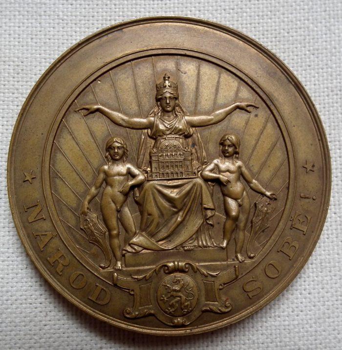 Medaile Národní divadlo 1883.