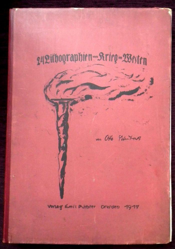 Schubert Otto: 24 Lithographien Krieg im Western. Emil Richter Dresden 1917.