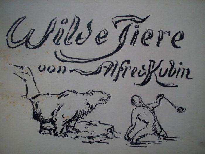 Kubin Alfred: Wilde Tiere. München 1920. Ex.323 z 720 kusů.