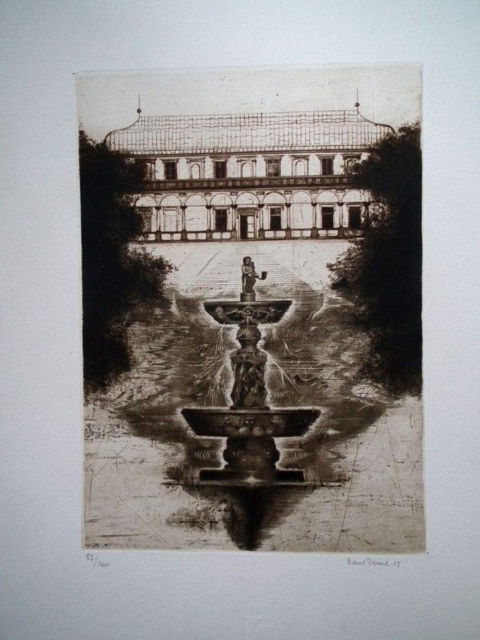 Pražský hrad – Lyra Pragensis 1975 – soubor 10ti grafických listů.