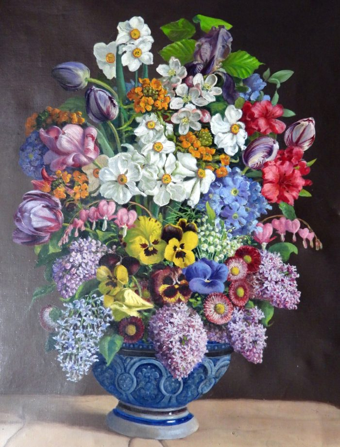 Fridrich Zocher: Květinové zátiší.